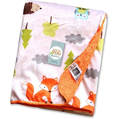 Kleitung Fox Baby Blanket Super Soft for Toddler or Infant, 30'x41' Baby Cosy Blanket Perfect for Crib Stroller or car Milestone Blanket for Baby