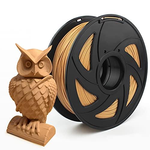 Filamento PETG madera, 1,75 mm Carrete de 1 kg, Filamento 3D PETG madera 1,75 +/- 0,02 mm para impresión 3D, tereftalato de polietileno, filamento 3d impresora