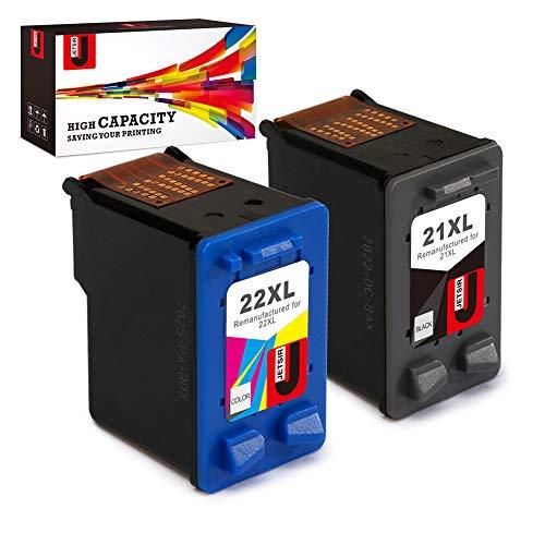 JetSir Compatible 21 22 XL Ink Cartridges Replacement for HP Deskjet D1311 D1320 D1330 D1341 D1420 D1430 D1445 D1520 D1530 D2330 D2460 F340 Officejet 4315 J3640 J3680 PSC 1410 Printer
