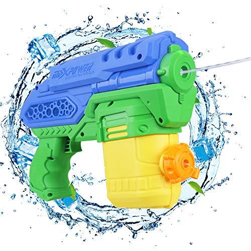 Anpro Elektryczny pistolet na wodę, zabawka dla dzieci i dorosłych, na lato, na basen, do ogrodu i na plażę, zbiornik na wodę 300 ml