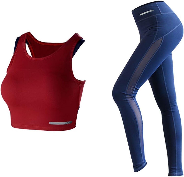 Kmgjc Sommer Yoga Sportswear Set (Zwei Stücke) Frauen Gym Running Kurzarm Yoga Hosen Sexy Yoga Kleidung