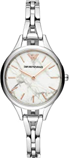 Emporio Armani Women's Two-Hand Rose Gold-Tone Stainless Steel Watch AR11167