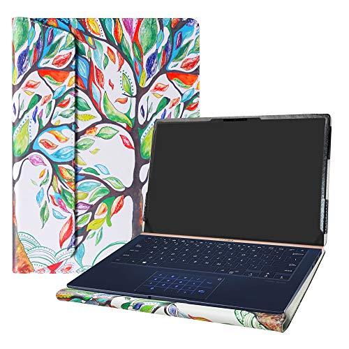 Alapmk Specialmente Progettato PU Custodia Protettiva in Pelle per 14' ASUS ZenBook 14 UX433FN Series Laptop(Non compatibili con: ASUS ZenBook UX430UA UX410UA UX431FA),Love Tree