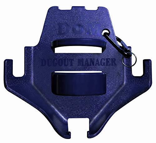 Dugout Organizer for Softball & Baseball Gear Hanger for Bat, Glove, Helmet and Bottle of Water- The DOM Navy Blue