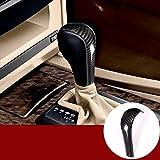 YIWANG Carbon Fiber Style Auto Center Gear Shift Head Cover Trim For E39 E60 E61 E83 E53 E46 Car Accessories (nicht für E61 5er Limousine)