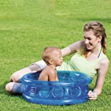 Mini Playa de la Piscina de Arena Piscina Piscina Piscina Centro de Juego Agua Juguetes bañera Inflable para niños 64 * 25cm de los niños en Edad 0-3 Adecuado,Azul