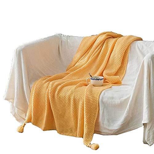 CRXL shop-elektrische dekens Gebreide deken met kwast, zacht en warm gezellig deken, voor Nap op de bank en bed stoel, Gebreide deken, Woondeken voor woonkamer & kantoor, 130 X170cm