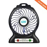 Best Battery Operated Desk Fans - Portable USB Fan Battery Operated Fan with Flashlight Review