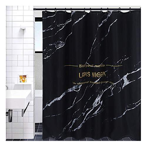 $Badkamer accessoires Zwarte Douchegordijnen Extra Lange En Brede Badkamer Gordijn Gemaakt Van Waterdichte Mould Proof Resistant Polyester