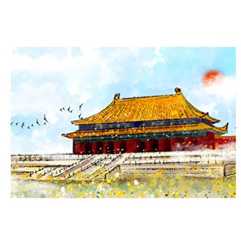Rompecabezas De Madera Punto De Referencia De Beijing Rompecabezas Para Adultos 1000 Piezas Rompecabezas Interesantes Para Adultos Juguetes Rompecabezas De Atracciones Famosas De La Ciudad De China