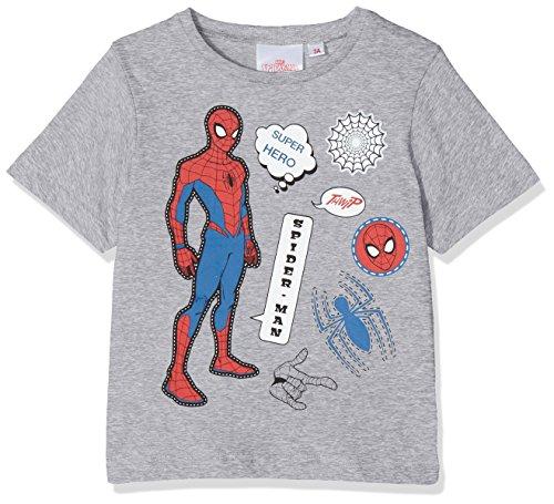 Marvel Spiderman Hero Camiseta, Gris, 8 Años para Niños