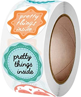 SEIMOO 500pcs Pretty Things Inside Stickers Seal Labels Handmade Adhesive Sticker for Candy Gift Box Packaging Bag Wedding...