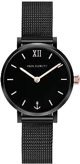 PAUL HEWITT Orologio donna acciaio Sailor Line Modest Black Sunray - Orologio da polso donna (nero), Orologio elegante don...