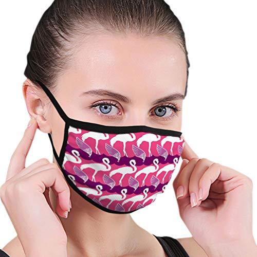 NoneBrand 786 Herbruikbare en wasbare veiligheidsafdekking, half gezicht, voor kinderen, jongeren, elegant, roze flamingo-vleugels