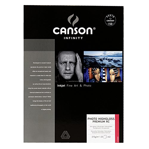 CANSON Papel Foto Infinity Highgloss A3 315g 25 Folhas - CANSONCSN0002285