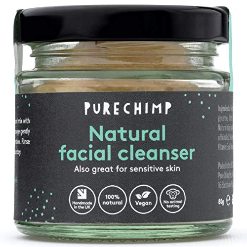 Natural Face Wash (Super Natural Cleanser) 80g by PureChimp - 100% Natural,...