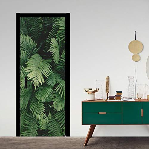 Mural Para Puerta Moderno Bosque Verde Planta Sala De Estudio Sala De Estar Dormitorio Desmontable Autoadhesivo Papel Pintado Puertas 77 X 200 cm