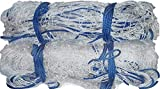 Griffin Player Extra Thick Double Nylon Football Net/Soccer Goal Post Net (Large, White)
