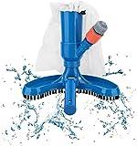 Aspirador de Piscina, Portátil Cepillo Succión Limpiador, Limpiafondo Manual Piscina con Cepillo y Bolsa de Malla