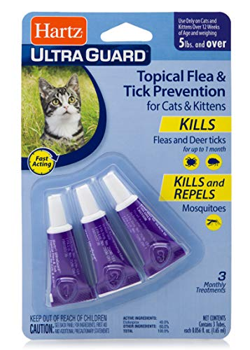 Hartz UltraGuard Topical Flea & Tick Prevention for Cats and Kittens - 3 Monthly Treatments