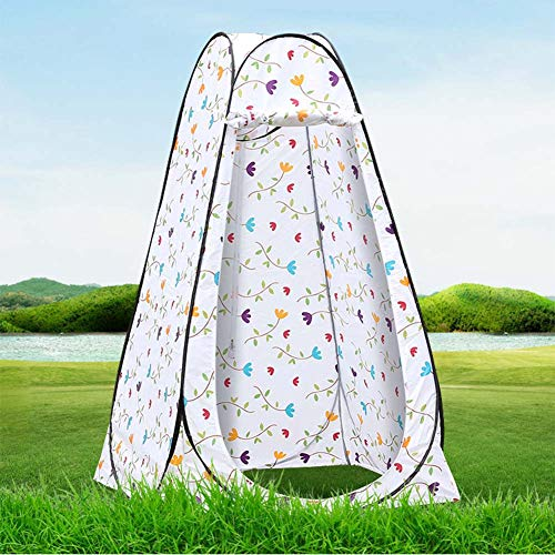 Pop Up Toilet Tent Camping Shower Privacy Tent with Window Waterproof Portable Toilet Tent Lightweight, Sturdy, Foldable - with Carry Bag Windbreak Rope Stake