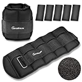 Geoinus Adjustable Ankle Weights, each 5lbs,Ankle & Wrist Weights Set with Removable Weight,Adjustable Strap for Exercise,Walking,Running,Jogging,Fitness,Workout,Men Women Kids,2 Pack