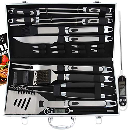 ROMANTICIST 21pc BBQ Grill Accessories Set with Thermometer - The Very Best...