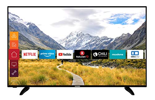 Telefunken D58U551N4CWH 146 cm / 58 Zoll Fernseher (Smart TV inkl. Prime Video/Netflix/YouTube, 4K UHD mit Dolby Vision HDR/HDR 10 + HLG, Works with Alexa, Triple-Tuner)