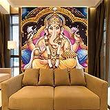 Tapete Indische Götter Wandbilder Hindu Gottheiten Buddha 3D Fototapeten Tapeten Für Hintergrund Religion 3D Wallpaper, 150 * 105 Cm
