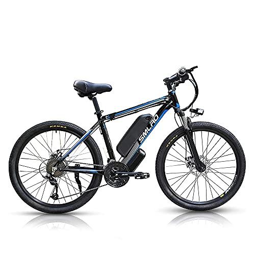 1000W Bicicleta Electrica Montaña, 26 Pulgadas Batería Extraíble de 48V 13Ah, Shimano 21 Velocidades E-Bike MTB, 3 Modos, Velocidad Máxima de 45km/h [EU Warehouse],Blue