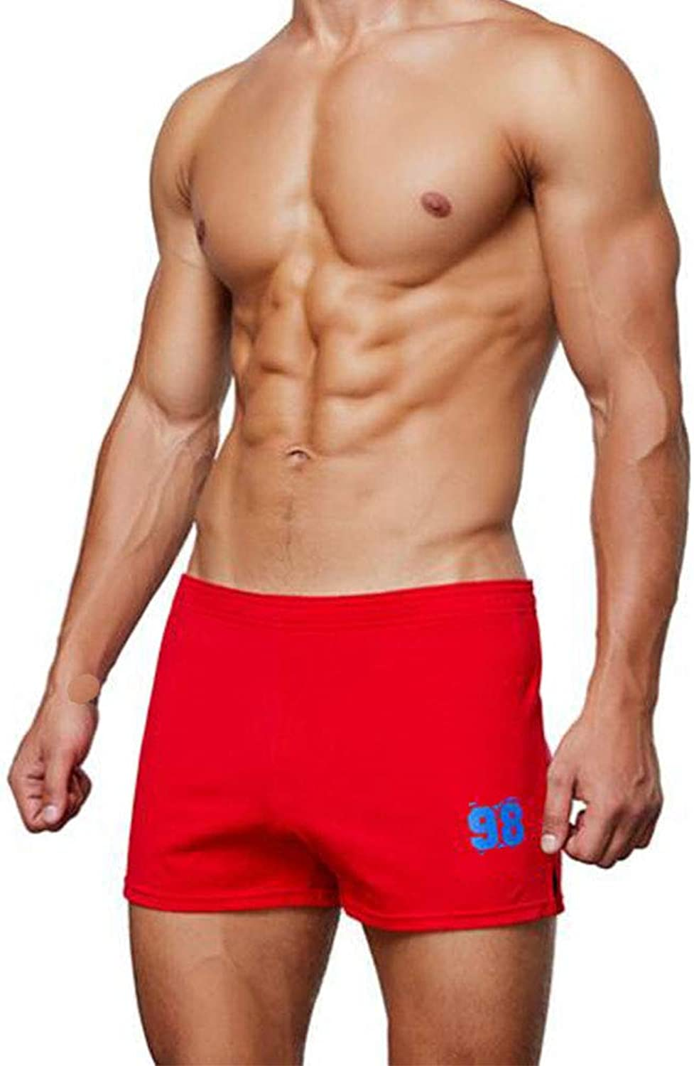 Shorts, Men, 100% Cotton, Home, Casual, Sports Shorts, Straight, Sports, Fitness