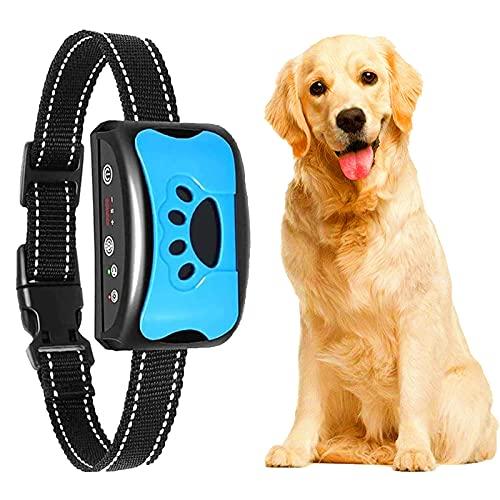 Erziehungshalsband Hunde Halsbänder, Nylon Hundehalsbänder Anti Bellen Halsband Mit Vibration, Sound Automatisches Trainingsgerät Für Kleine, Mittelgroße Und Große Hunde Stoppt Bellen Blau