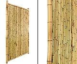 Bambuswand ' TEN New Line1' 180x120cm geschlossen, Füllung und Rahmen aus natur Rohren - Sichtschutzwand Sichtschutzelement Sichtschutz Gartenzaun Zaunelement Sichtschutzwände Gartenzäune
