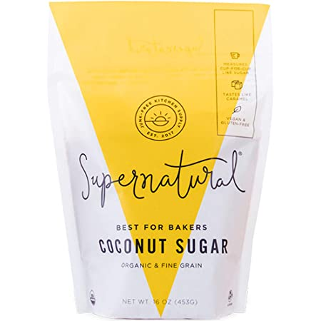 Coconut Sugar by Supernatural, Certified Organic, Vegan, Gluten-Free, Low Glycemic Sugar Substitute for Healthy Baking, 16 oz
