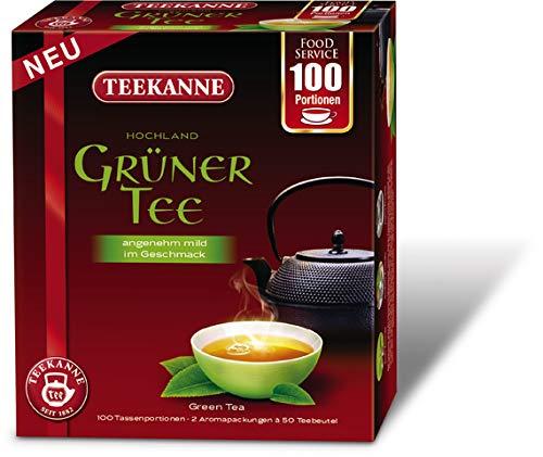 TEEKANNE Grüner Tee Hochland, Beutel, 2 x 50 Beutel à 1,5 g, Sie erhalten 1 Packung mit 100 Beutel