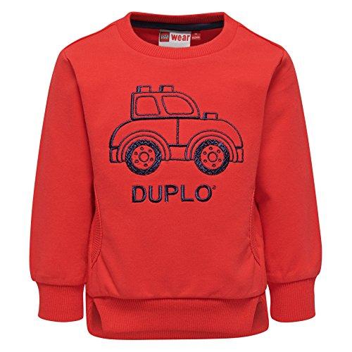 Lego Wear Duplo Boy Sander 301-SWEATSHIRT Sweat-Shirt, Rot (Red 349), 4 Ans Bébé garçon