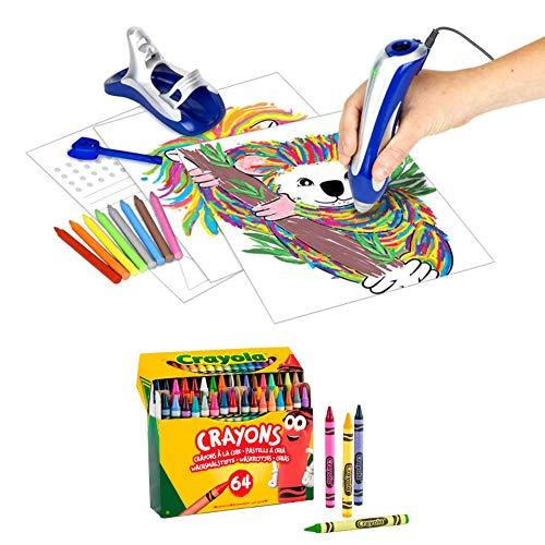 BricoLoco. Super ceraboli Koala. Crayola calienta crayón. Juego de manualidades para pintar con recambio de 64 ceras de colores