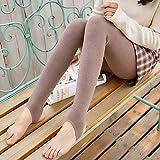 Nuevo algodón más Polainas de Terciopelo Engrosamiento otoño e Invierno Damas japonesas de Cintura Alta Pantalones cálidos de una Pieza 200g