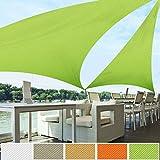casa pura Toldo Triangular Resistente, Grueso | Impermeable, Lavable a máquina | tamaños y Colores a Elegir, Verde