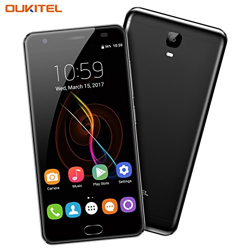 6080mAh 4+64GB, OUKITEL OK6000 Plus 5.5' FHD Octa Core Unlocked Cell Phone, Android 7 Dual SIM 16MP Camera Fingerprint