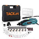 TACKLIFE Rotary Tool Kit with MultiPro Keyless Chuck and Flex Shaft, Versatile Accessories, 4 Attachments & Carrying Case, Multi-functional for Around-the-House & Crafting Projects-RTD35ACL-Lake Blue