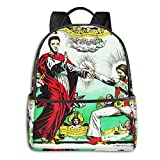 Jesus And Elvis Pullover Hoodie Student School Bag School Cycling Leisure Travel Camping Outdoor Backpack