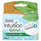 10 x Wilkinson Sword Intuition Naturals Sensitive Care 100% Natural Aloe + Vitamin E 3 Cartridges