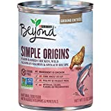 Purina Beyond Grain Free, Natural Pate Wet Dog Food, Simple Origins Chicken & Salmon Recipe - (12) 13 oz. Cans