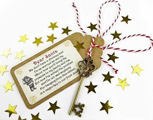 Santa's Magic Key Christmas Father Christmas Eve Tradition No Chimney handmade Childrens Christmas Eve Box Fillers