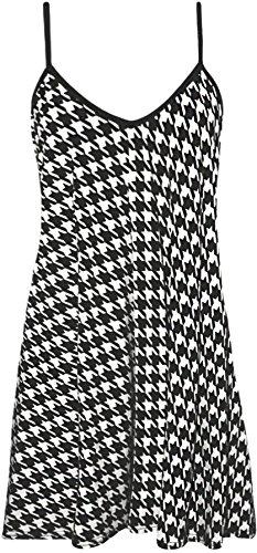 WearAll - oversized bedrukte mouwloze riempje mini jurk vest top - 11 patronen - maten 44-54