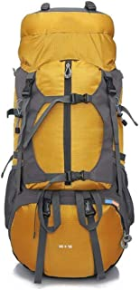 XingKunshop Rucksack Hiking Backpack 65L Travel Camping Backpack Daypack with Durablewith Rain Cover Sport,Camping,Casual,Gym (Color : Yellow)