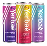 Yerbae Sparkling Water with Yerba Mate Tea - Natural Energy Drink with Caffeine & Antioxidants -...