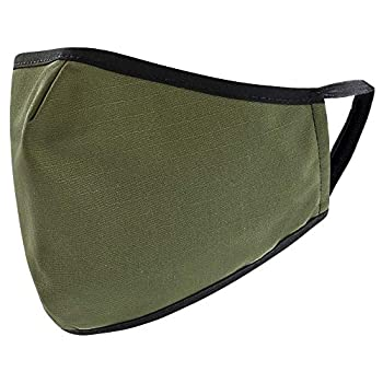 Reusable Washable Military Grade Cotton Blend Cloth Face Cover Made in USA  OD Green 1
