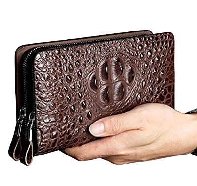 Men's Clutch Wallet Leather Handbag Business Crocodile Long Wallets Card Holder Purse